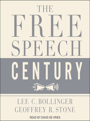 cover image of The Free Speech Century