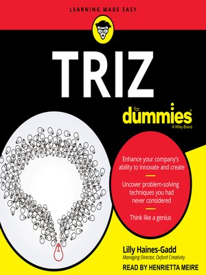 cover image of TRIZ for Dummies