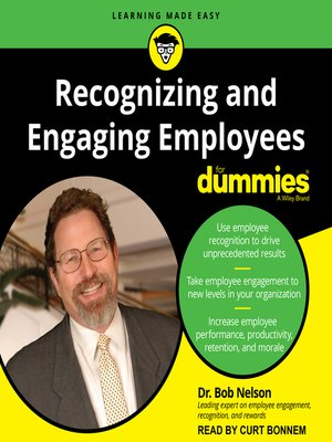 cover image of Recognizing and Engaging Employees for Dummies
