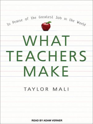 cover image of What Teachers Make