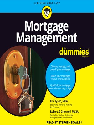cover image of Mortgage Management for Dummies