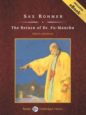cover image of The Return of Dr. Fu-Manchu