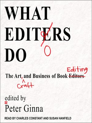 cover image of What Editors Do