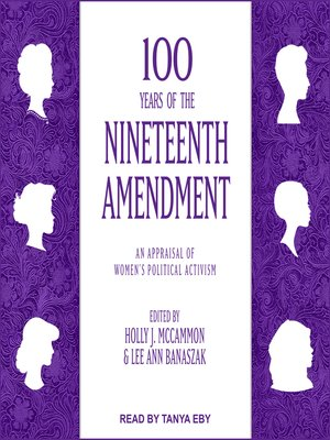 cover image of 100 Years of the Nineteenth Amendment