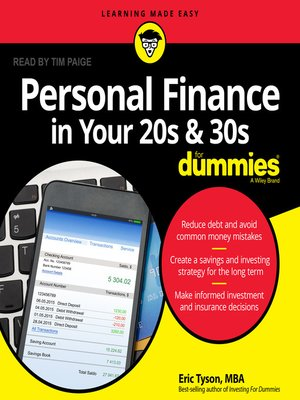 cover image of Personal Finance in Your 20s and 30s for Dummies