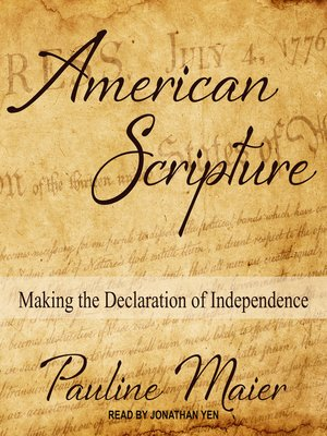 cover image of American Scripture