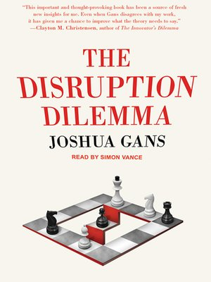 cover image of The Disruption Dilemma