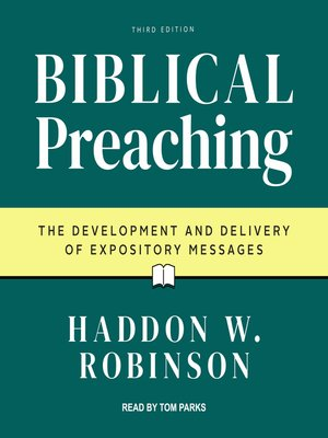 cover image of Biblical Preaching