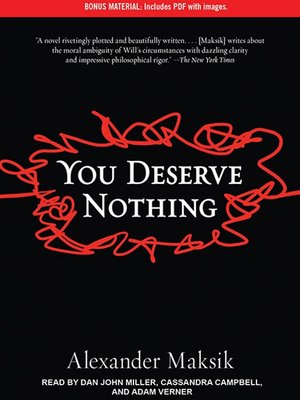 cover image of You Deserve Nothing