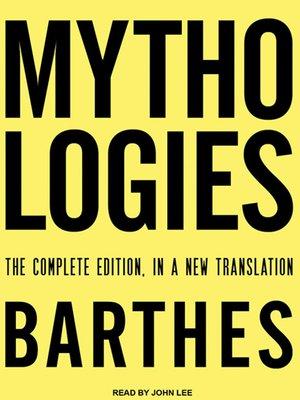 cover image of Mythologies