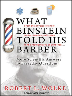 cover image of What Einstein Told His Barber