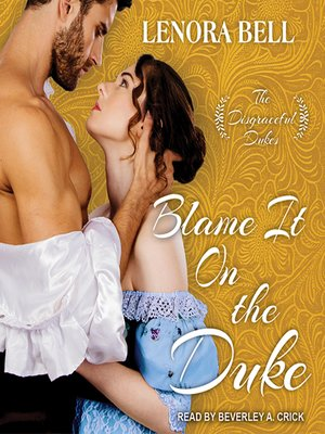 cover image of Blame It on the Duke