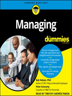 cover image of Managing for Dummies