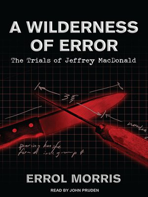 cover image of A Wilderness of Error