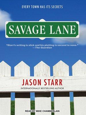 cover image of Savage Lane