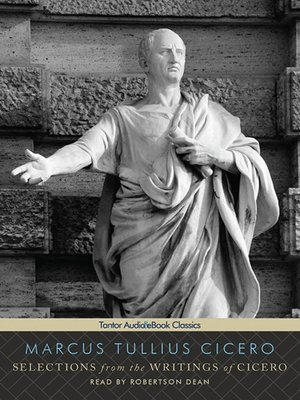 cover image of Selections from the Writings of Cicero