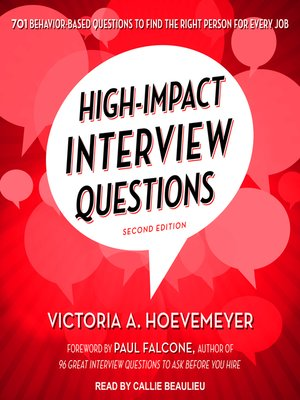 cover image of High-Impact Interview Questions