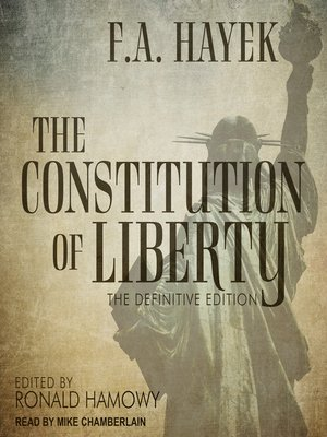 cover image of The Constitution of Liberty