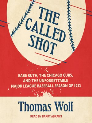 cover image of The Called Shot