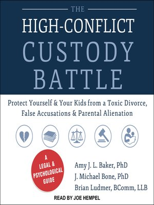 cover image of The High-Conflict Custody Battle