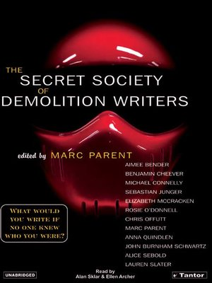 cover image of The Secret Society of Demolition Writers