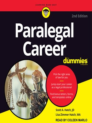cover image of Paralegal Career for Dummies