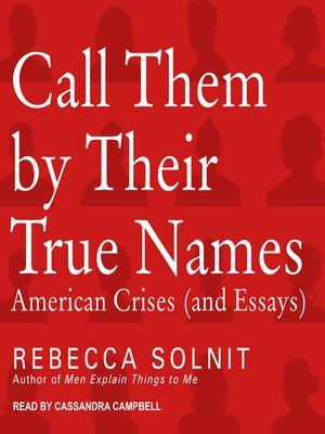 cover image of Call Them by Their True Names