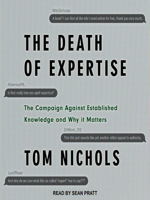 cover image of The Death of Expertise