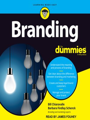 cover image of Branding for Dummies