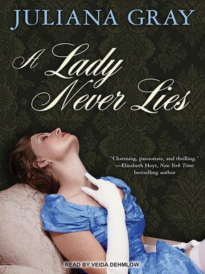 cover image of A Lady Never Lies
