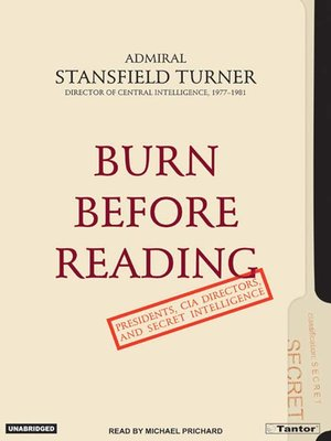 cover image of Burn Before Reading