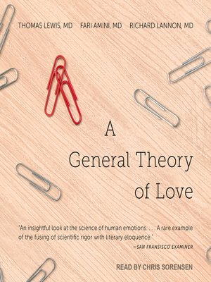 cover image of A General Theory of Love