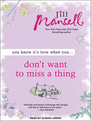 cover image of Don't Want to Miss a Thing