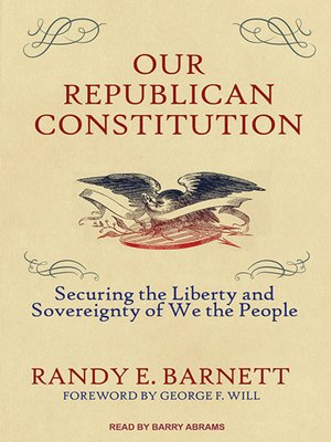 cover image of Our Republican Constitution