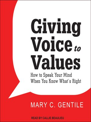 cover image of Giving Voice to Values