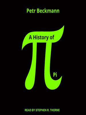 cover image of A History of Pi