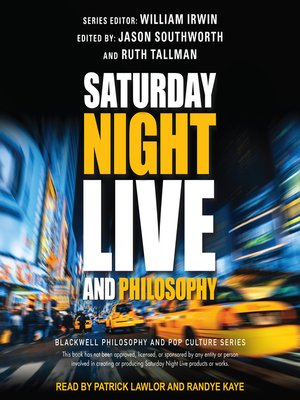 cover image of Saturday Night Live and Philosophy