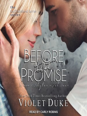 cover image of Before That Promise