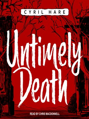 cover image of Untimely Death