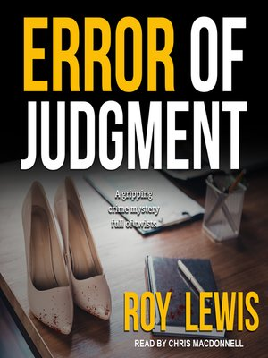 cover image of Error of Judgment