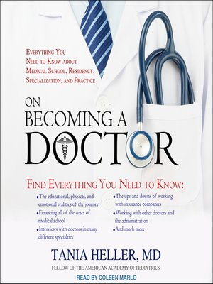 cover image of On Becoming a Doctor