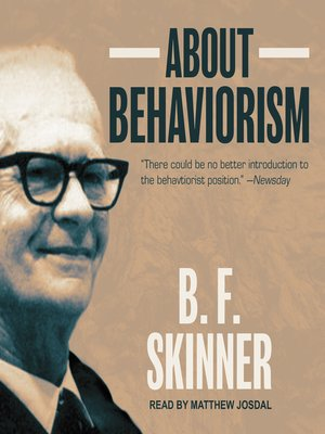 cover image of About Behaviorism
