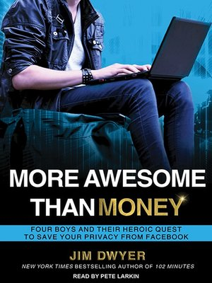 cover image of More Awesome Than Money