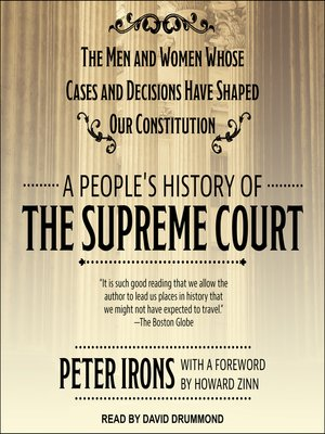 cover image of A People's History of the Supreme Court