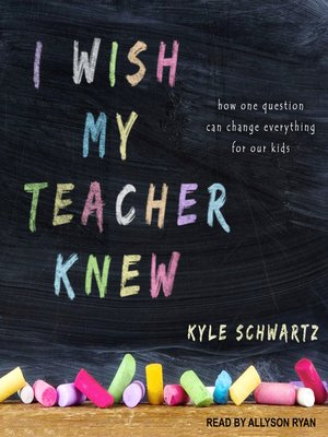 cover image of I Wish My Teacher Knew