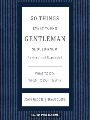 cover image of 50 Things Every Young Gentleman Should Know