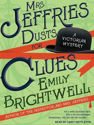 cover image of Mrs. Jeffries Dusts for Clues