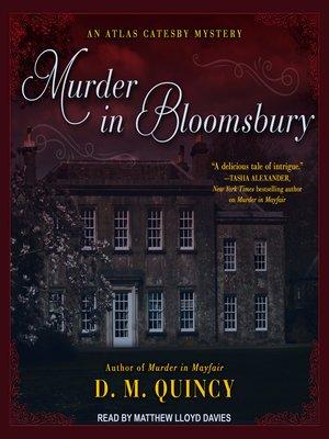 cover image of Murder in Bloomsbury