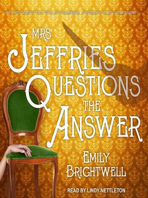cover image of Mrs. Jeffries Questions the Answer