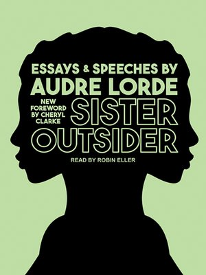 cover image of Sister Outsider--Essays and Speeches